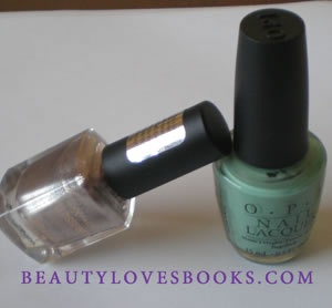 max factor angel nails and opi mermaid tears