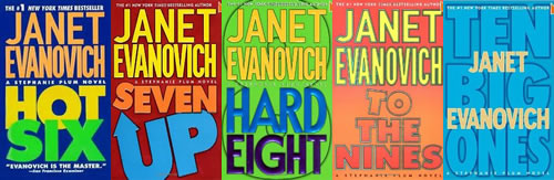 Stephanie Plum Janet Evanovich book covers 6-10