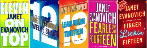 Stephanie Plum Janet Evanovich books 10-15 covers