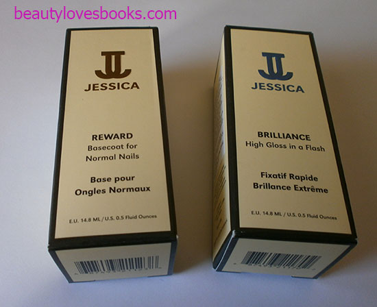 jessica reward basecoat for normal nails and jessica brilliance top coat