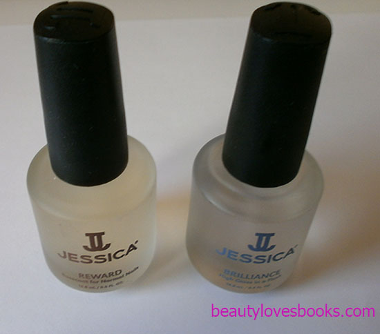 jessica reward basecoat for normal nails and Jessica Brilliance fast-drying top coat