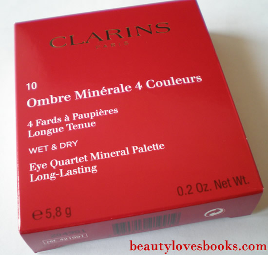 clarins eye quartet minetal palette box
