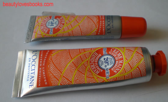 l'occitane mango flower shea butter hand cream and lip balm