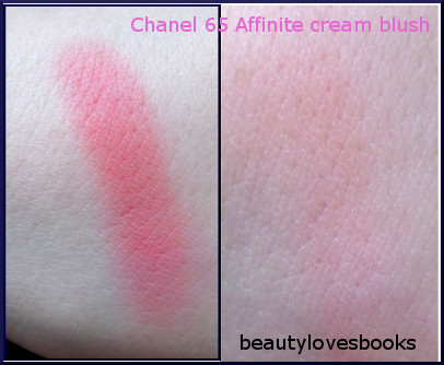 chanel cream blush 65 affinite swatch