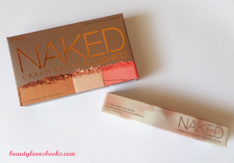 Urban Decay NAKED Flushed palette in Streak and NAKED Ultra Nourishing gloss in Streak