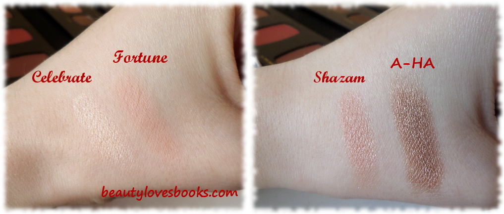 Bare minerals The magic act palette Christmas 2014 swatches