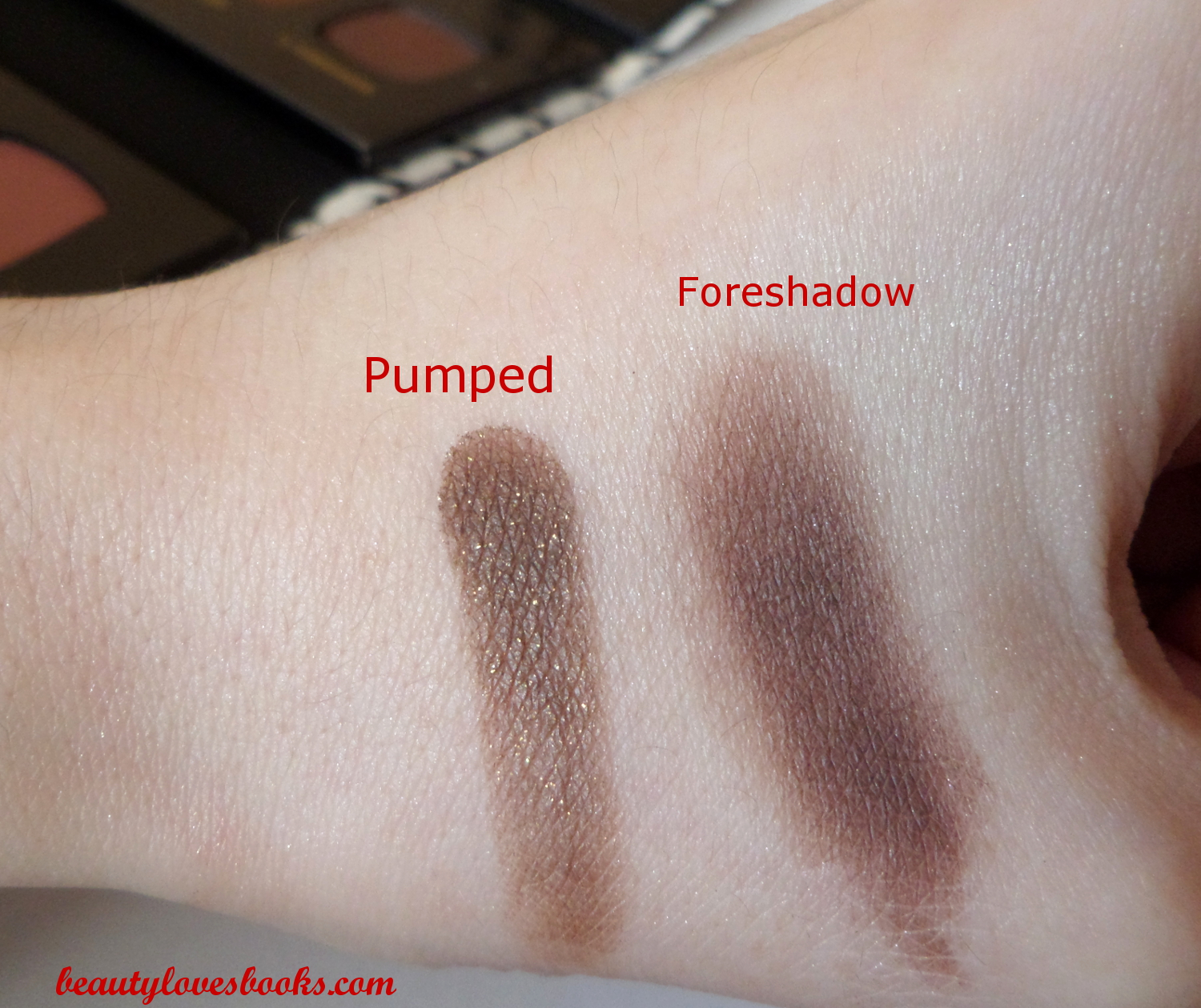 Bare minerals the Magic act palette swatches