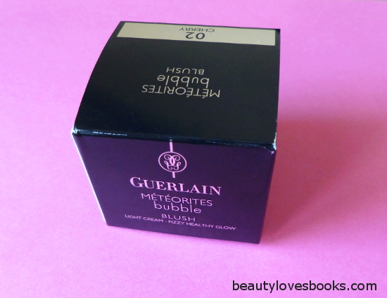 Guerlain Meteorites bubble blush in 02 Cherry packaging