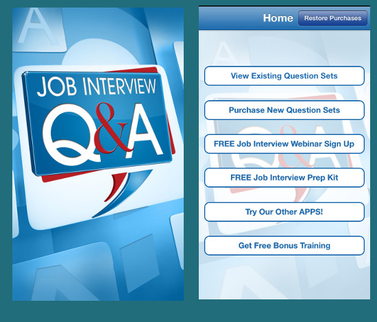 Job interview Q&A app