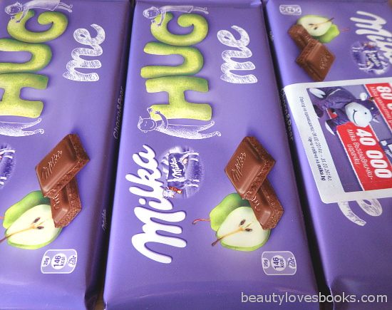 Milka chocolate with pear