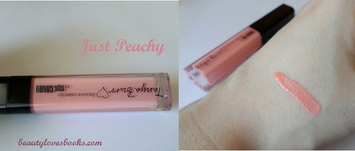 Tanya Burr by eye Candy Just peachy swatch