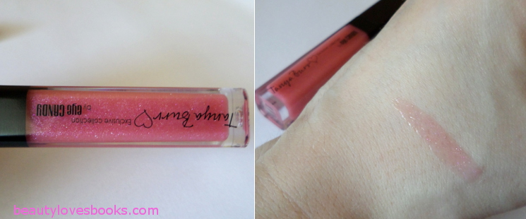 Tanya Burr Dream, smile, sparkle lip gloss swatch