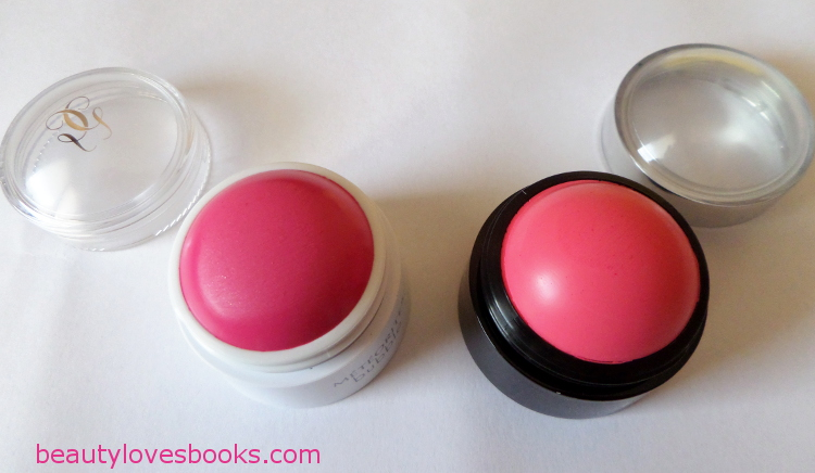 Guerlain Meteorites bubble blush and KIKO Cheeky Colour creamy blush in 03 Strawberry pink