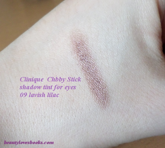 Clinique chubby stick shadow tint for eyes in 09 Lavish lilac swatch