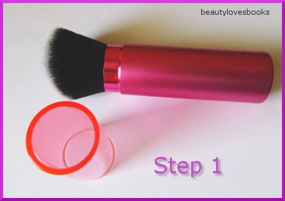 Real techniques retractable kabuki brush step 1