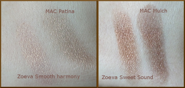 Zoeva Naturally yours palette MAC Patina Mac Mulch