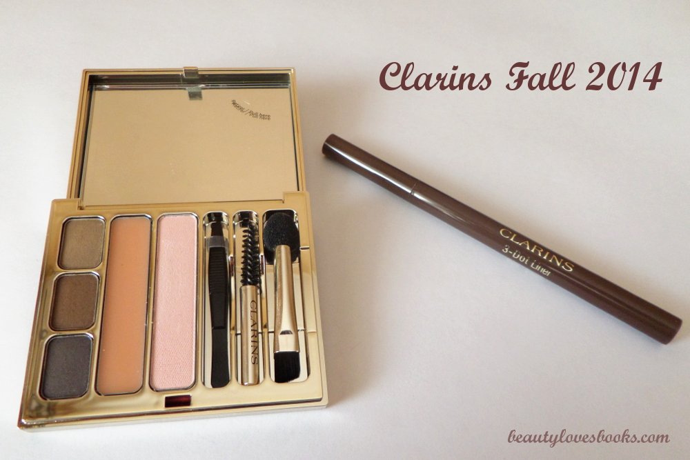 Clarins Perfect eyes & brows palette for fall 2014 and brown Clarins 3-dot liner