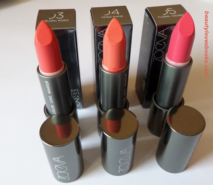 Zoeva Luxe cream lipsticks 03 Melting Kisses 04 Venus Phase 05 Floral crown