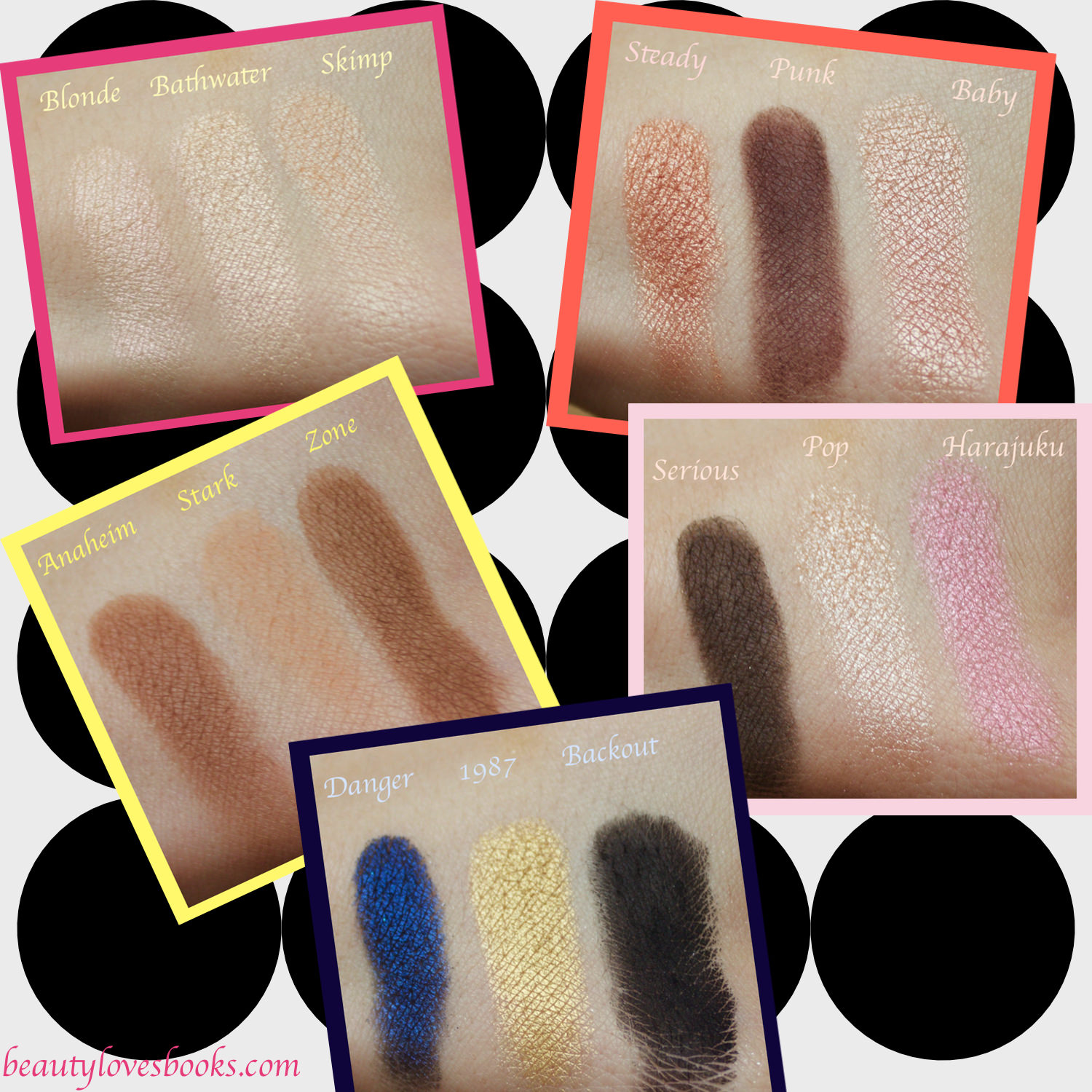 Urban Decay X Gwen Stefani swatches