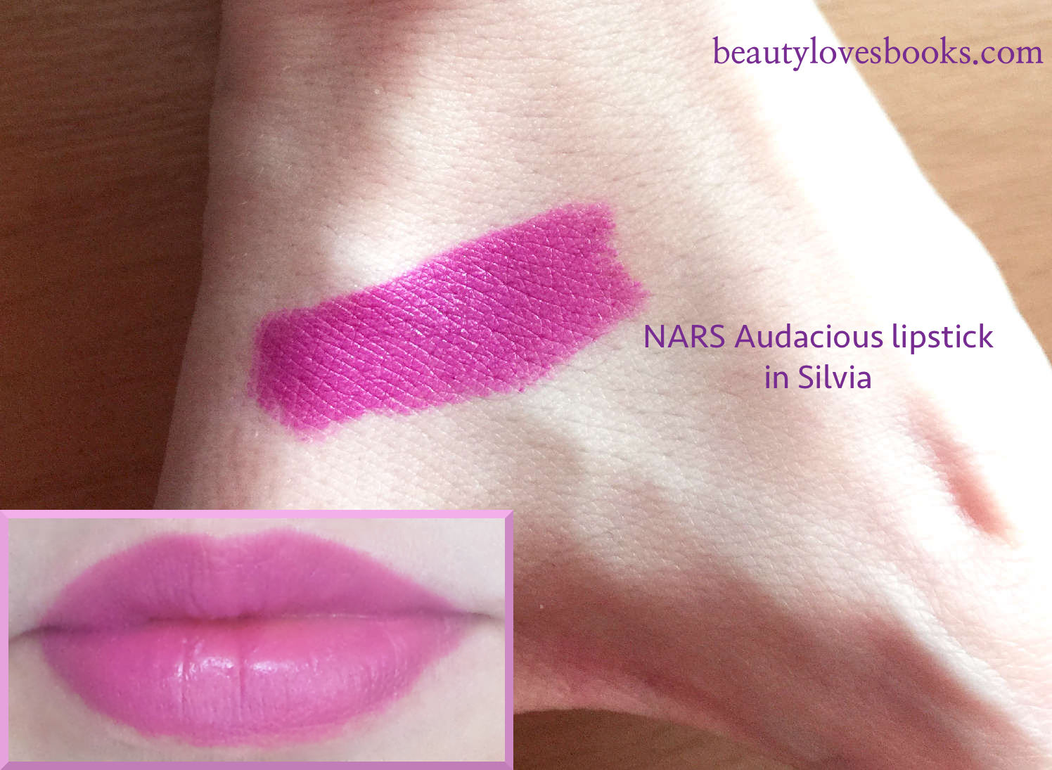 NARS Audacious lipstick in Silvia swatches