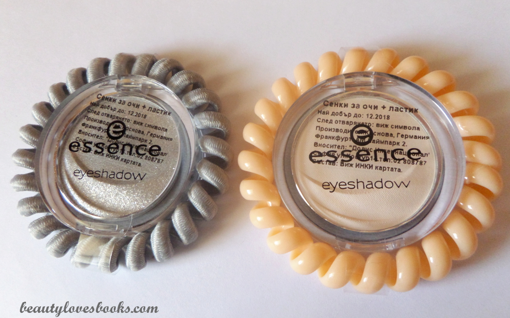 Essence eyeshadows with hairbands