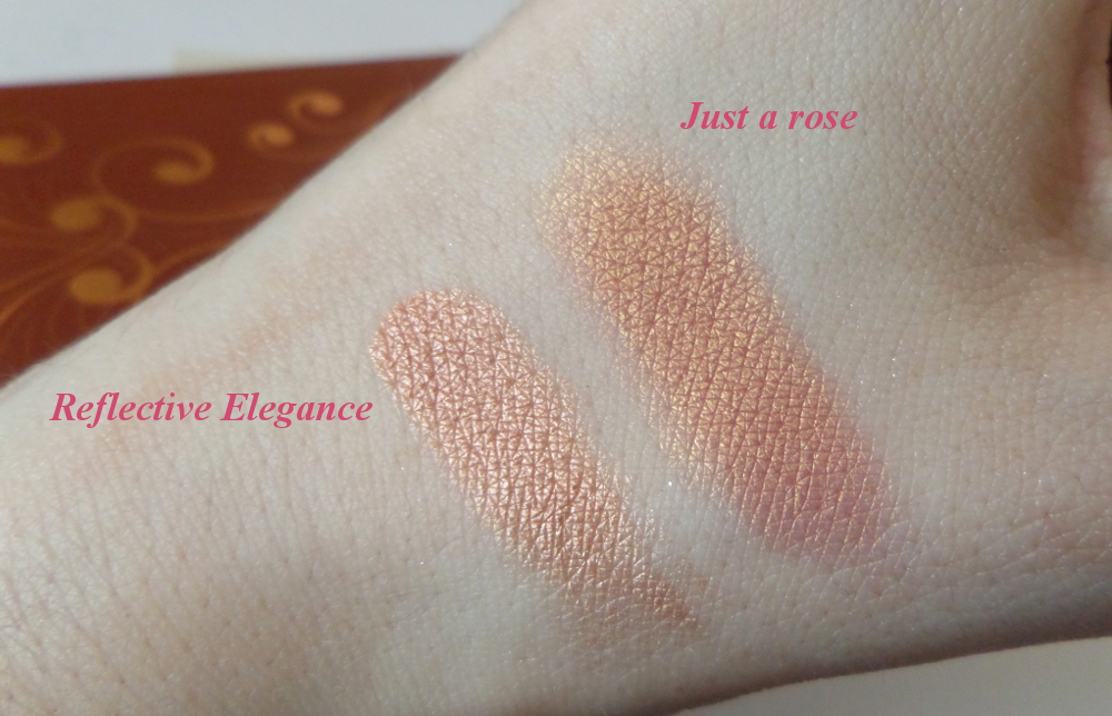 Zoeva Princess palette swatches