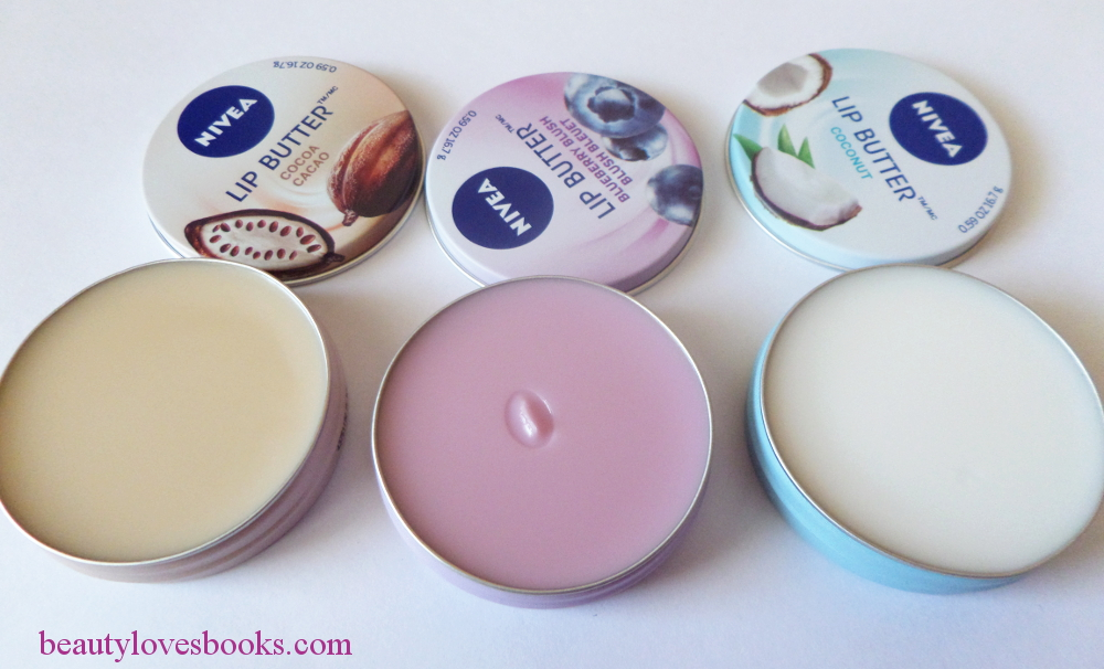 Nivea lip butters Cocoa, Coconut and Blueberry blush