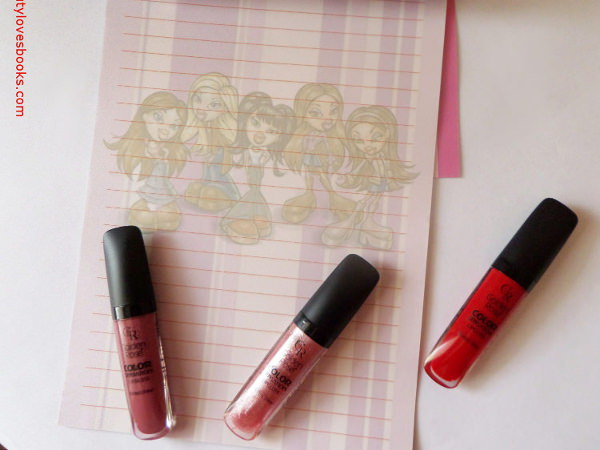 The lip glosses Golden rose Color Sensation