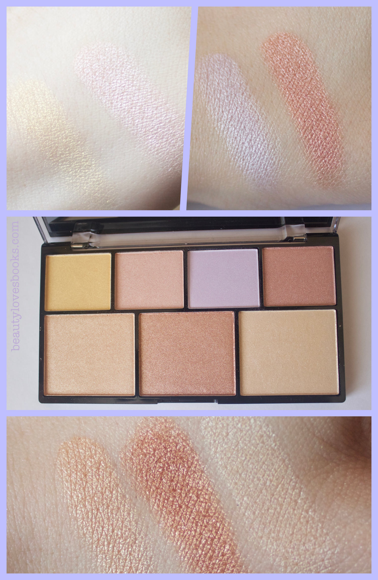 NYX Strobe of Genius illuminating palette -  swatches