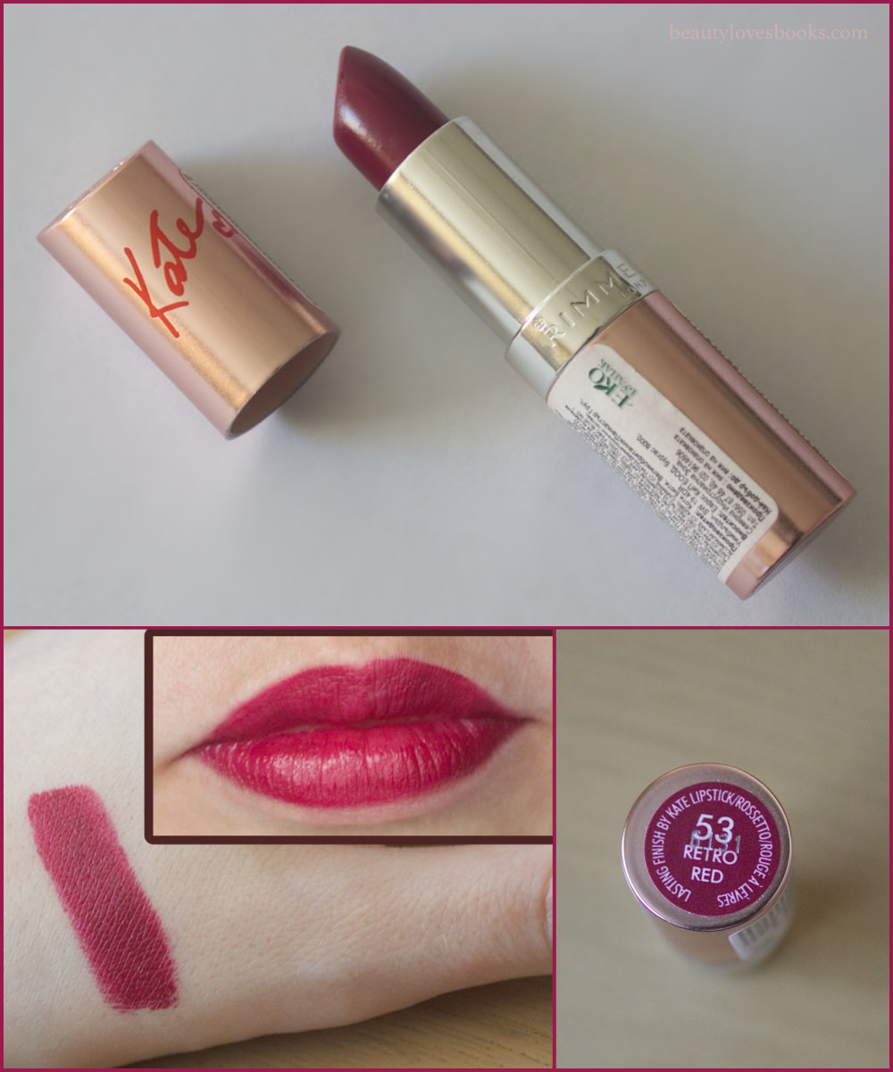 Rimmel 15th Anniversary Collection Lasting Finish lipsticks by Kate in 53 Retro Red