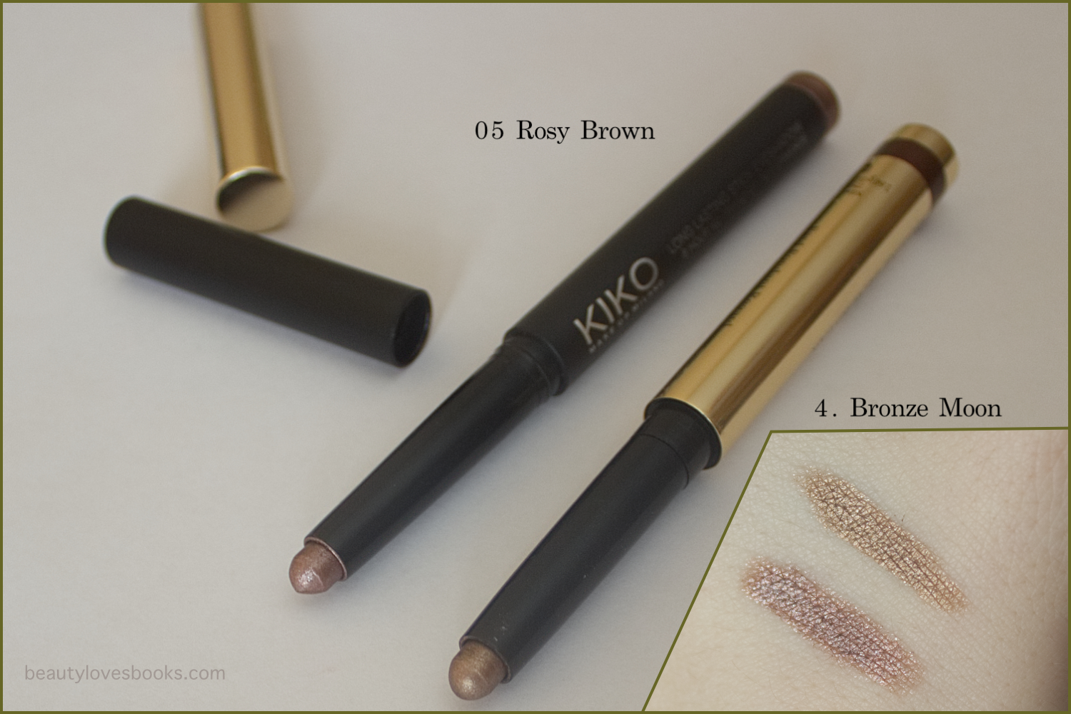 "byTerry Ombré Blackstar ""Color-Fix"" Cream Eyeshadow in Bronze Moon and KIKO Long Lasting Stick in 05 Rosy Brown"
