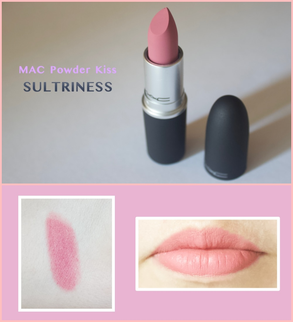MAC lipstick in the shade Sultriness swatches
