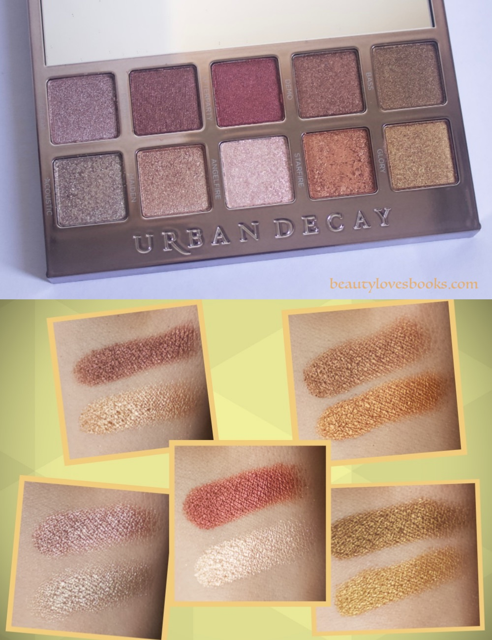 Urban Decay Heavy metals palette neutrals swatches